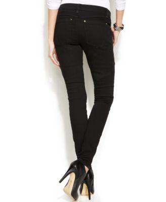 INC International Concepts Curvy-Fit Skinny Jeans, Black Wash ...