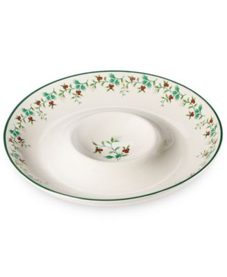 CLOSEOUT! Pfaltzgraff Winterberry Chip and Dip Set  sc 1 st  Macy\u0027s & CLOSEOUT! Martha Stewart Collection Holiday Garden 4-Piece Place ...