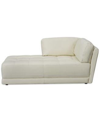 Traverso Leather Right or Left Arm-Facing Chaise  sc 1 st  Macyu0027s : left arm facing chaise - Sectionals, Sofas & Couches