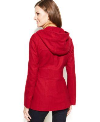 Jason Kole Petite Hooded Wool-Blend Coat - Coats - Women - Macy's