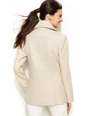 Kenneth Cole Reaction Petite Wool-Blend Peacoat - Coats - Women