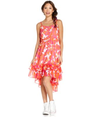 Yellow and pink combination dresses for juniors