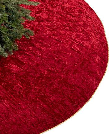 Crushed Velvet Red Tree Skirt
