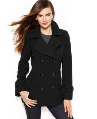 Jason Kole Double-Breasted Pea Coat - Coats - Women - Macy's