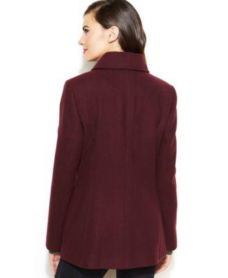 Nautica Zip-Front Wool-Blend Jacket - Coats - Women - Macy's
