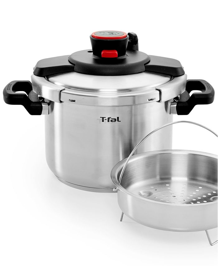 T-Fal - Stainless Steel 6.3-Qt. Pressure Cooker