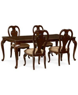Delmont 5 Piece Dining Room Furniture Set