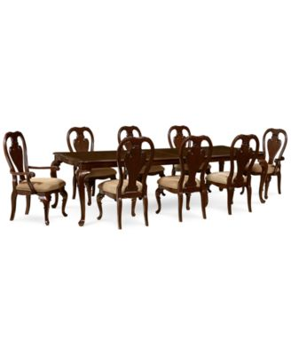 Delmont 9 Piece Dining Room Furniture Set