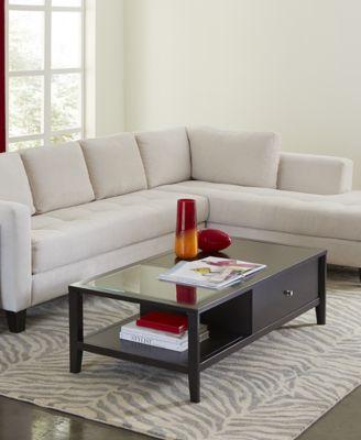edgewater rectangular coffee table - Macys Coffee Table