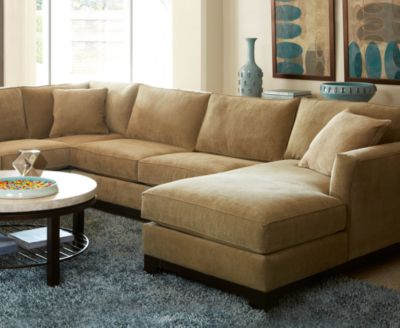 Kenton Fabric 3 Piece Chaise Sectional Sofa