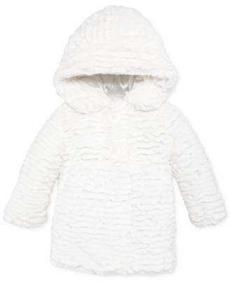 Calvin Klein Little Girls&39 Rose Swirled Faux Fur Coat - Kids - Macy&39s