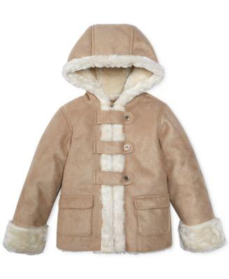 Hawke & Co. Kids Coat, Girls Faux-Shearling Jacket - Kids - Macy's