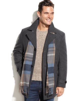 Nautica Big and Tall Wool-Blend Double-Breasted Pea Coat - Coats ...