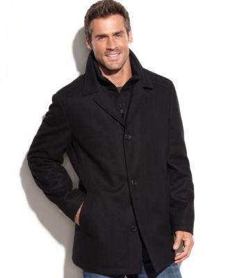 Nautica Knit Bib Wool-Blend Car Coat - Coats & Jackets - Men - Macy's