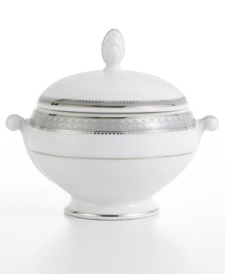 Mikasa Platinum Crown Sugar Bowl