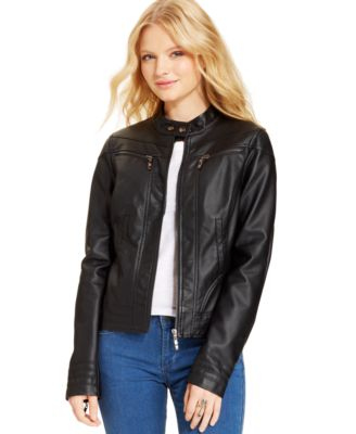 American Rag Stitched Faux-Leather Moto Jacket, Only at Macy's ...