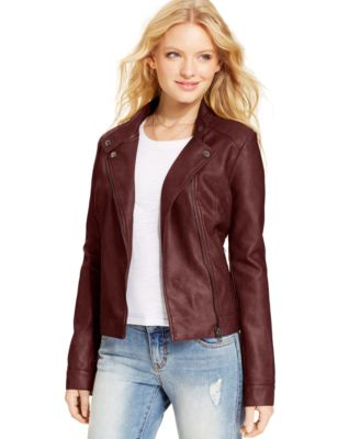 American Rag Faux-Leather Quilted Moto Jacket - Jackets & Vests ... : quilted moto jacket - Adamdwight.com