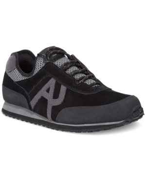 Armani Jeans Jogger Lace-Up Sneakers Mens Shoes