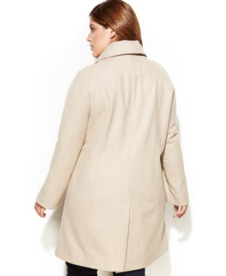 London Fog Plus Size Wool-Blend Car Coat & Scarf - Coats - Women ...