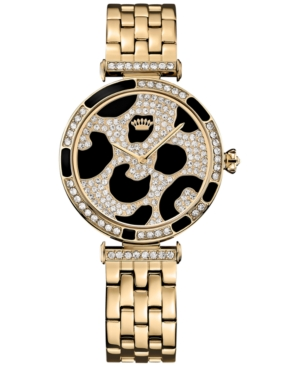 Juicy Couture Women's J Couture Gold-Tone Stainless Steel Bracelet Watch 34mm 1901169