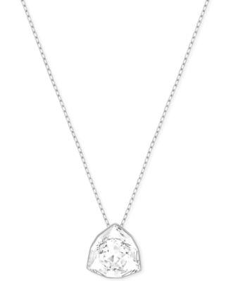 Swarovski crystal pyramid pendant necklace fashion jewelry swarovski crystal pyramid pendant necklace aloadofball Image collections