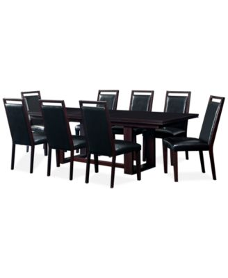 Amazing Belaire Black 9 Piece Dining Room Furniture Set