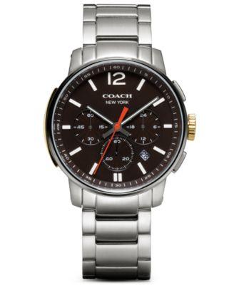 coach men s bleecker brown leather strap watch 40mm 14601520 coach men s chronograph bleecker stainless steel bracelet watch 40mm 14601526