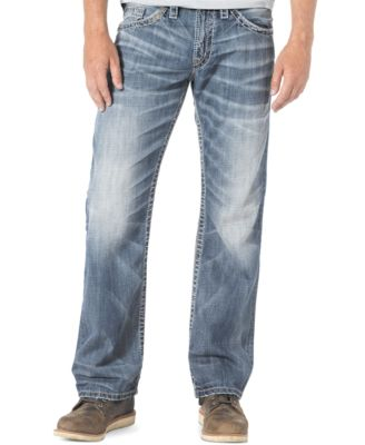Silver Jeans Zac Relaxed-Fit Straight-Leg Jeans - Jeans - Men - Macy's