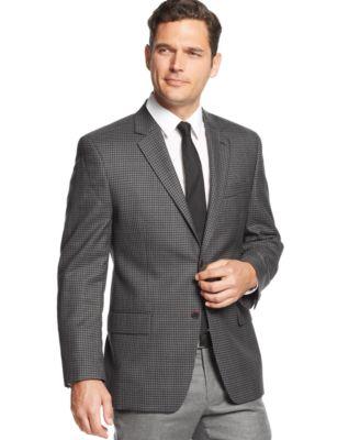 MICHAEL Michael Kors Grey and Black Checked Sport Coat - Blazers ...