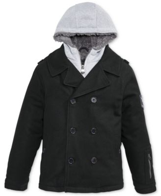 Hawke & Co. Outfitter Boys' Vestee Peacoat - Kids - Macy's