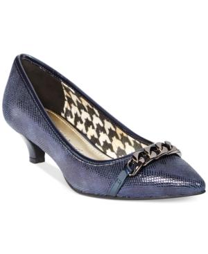 Anne Klein Mikaela Kitten Heel Pumps- A Macys Exclusive Womens Shoes