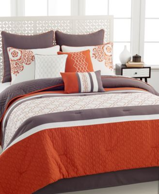 riley 10 piece california king comforter set