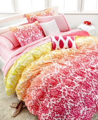 seventeen midnight pink 2 piece twin comforter set - kids' bedding