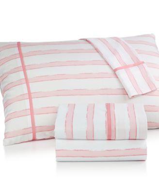 seventeen midnight pink queen sheet set