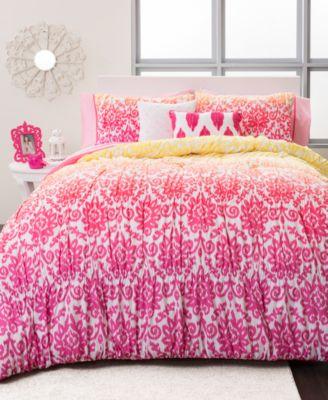 seventeen deliah ikat 3 piece full/queen comforter set - kids