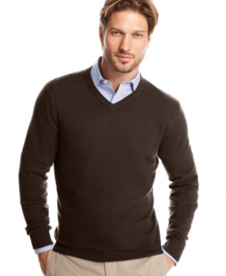 Club Room Men S Cashmere Solid V Neck Sweater