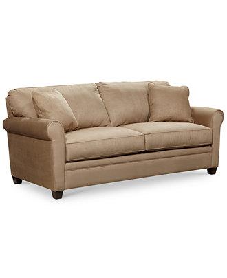 Kaleigh Fabric Queen Sleeper Sofa Bed Furniture Macy 39 S