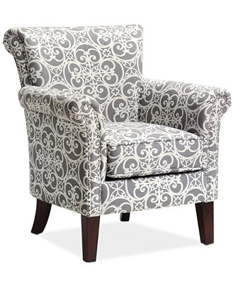 Sarah Printed Fabric Accent Chair Direct Ship Furniture