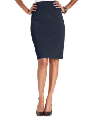 Style & Co. Pull-On Ponte-Knit Pencil Skirt - Skirts - Women - Macy's