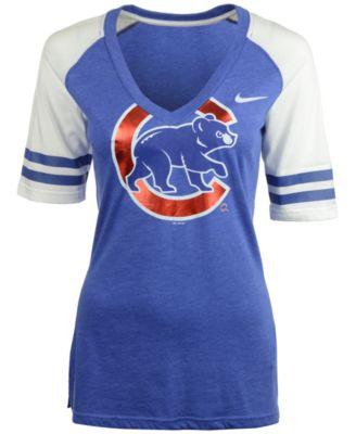 nike women's short-sleeve chicago cubs fan top t-shirt - sports