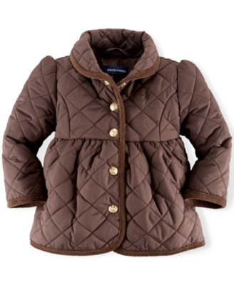 Ralph Lauren Baby Girls' Quilted Jacket - Kids - Macy's : quilted baby coat - Adamdwight.com