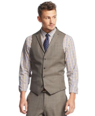 Bar Iii Carnaby Collection Slim Fit Houndstooth Vest