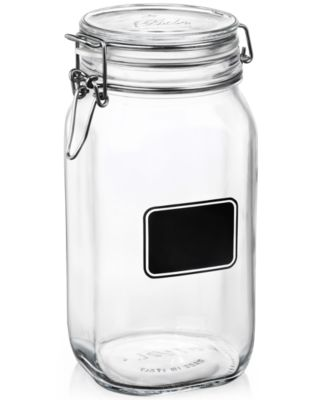 Bormioli Rocco Fido Chalk Label Tall Jar, 50.75 oz.