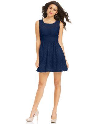 Bcx Juniors Dress Sleeveless Belted Dresses Juniors