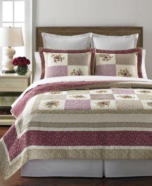 Closeout! Martha Stewart Collection Trailing Flowers Full/Queen Collector's Quilt Bedding