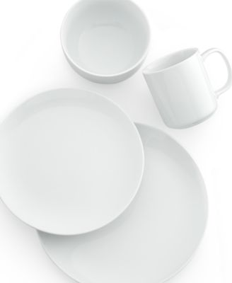 The Cellar Whiteware Coupe 4-Piece Place Setting