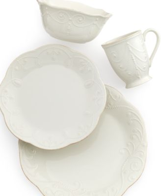 Lenox Dinnerware, French Perle White 4 Piece Place Setting
