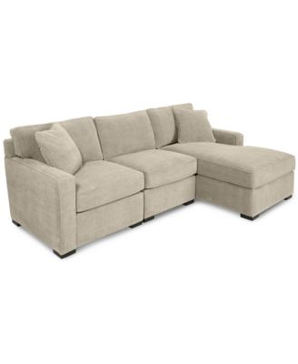 Kenton fabric 2 piece chaise sectional apartment sofa for Kenton fabric sectional sofa 3 piece