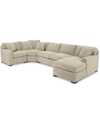 Radley 5 piece fabric sectional sofa furniture macy39s for Radley 5 piece sectional sofa