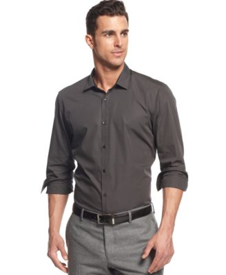 BOSS HUGO BOSS Lando Dark Fine Striped Shirt - Casual Button-Down ...